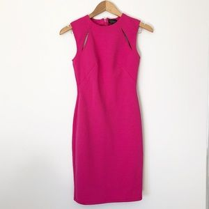 TOPSHOP hot pink bodycon dress casual-formal Sz 2